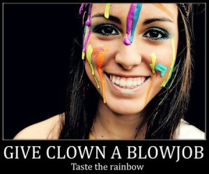 Une pipe au clown