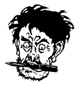 L'homme au stylo entre les dents