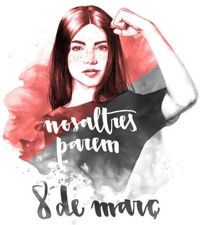 """Affiche catalane d'appel à la grève des femmes le 8 mars: """"NOSALTRES PAREM"""" dans - DATE A RETENIR"""