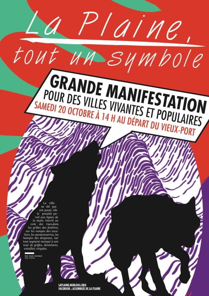 Manifestation à Marseille samedi 20 octobre ~ La Plaine vivra! dans - CONDITIONS DE VIE...